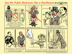 Use the Public Restroom Like a Gentleman Poster [POSTER ON DEMAND]