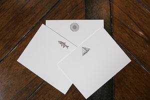 Men's Stationery: True North, Skipjack, Trout
