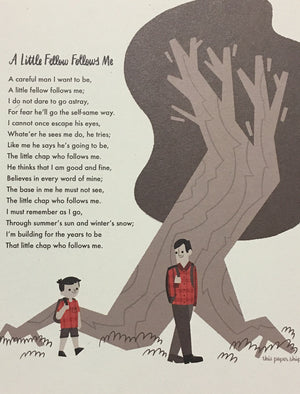 """A Little Fellow Follows Me"" Poem Print"