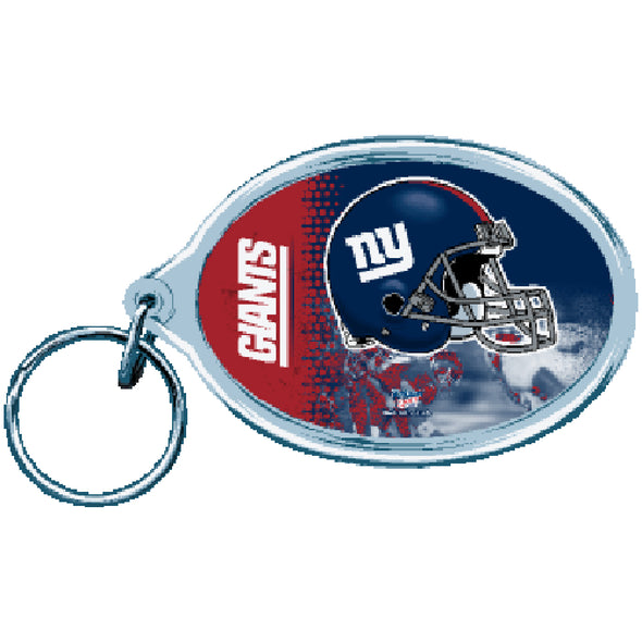 Acrylic Key Ring Oval New York Giants