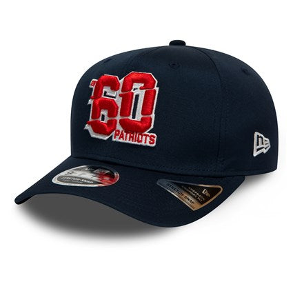 New Era NFL New England Patriots Numbers 9FIFTY Navy Stretch Snapback Cap