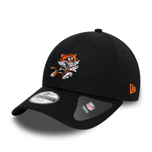 New Era Kid's NFL Icons Cincinnati Bengals Black 9FORTY Cap