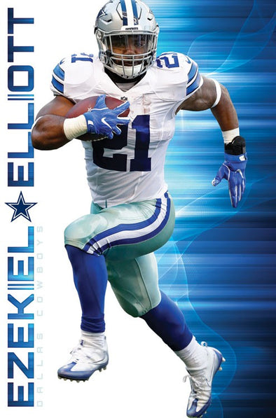 Ezekiel Elliott 16 Dallas Cowboys Football NFL Poster