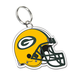 Acrylic Key Ring NFL Helmet Green Bay Packers