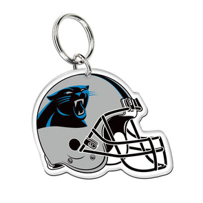 Acrylic Key Ring NFL Helmet Carolina Panthers