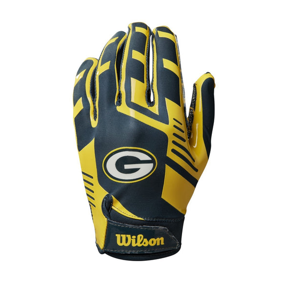 Youth NFL Stretch Fit Receivers Gloves - Green Bay Packers