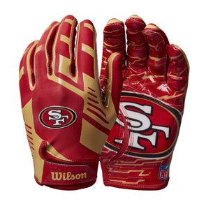 Youth NFL Stretch Fit Receivers Gloves - San Francisco 49ers