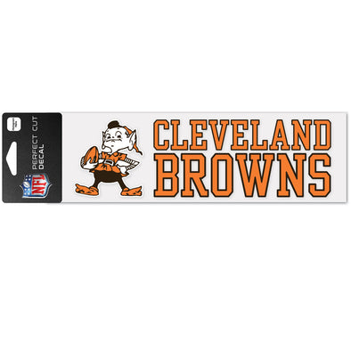 "Cleveland Browns WinCraft 3"" x 10"" Team Perfect Cut Decal"