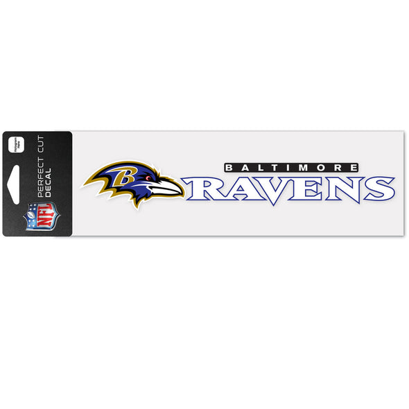 "Baltimore Ravens WinCraft 3"" x 10"" Team Perfect Cut Decal"