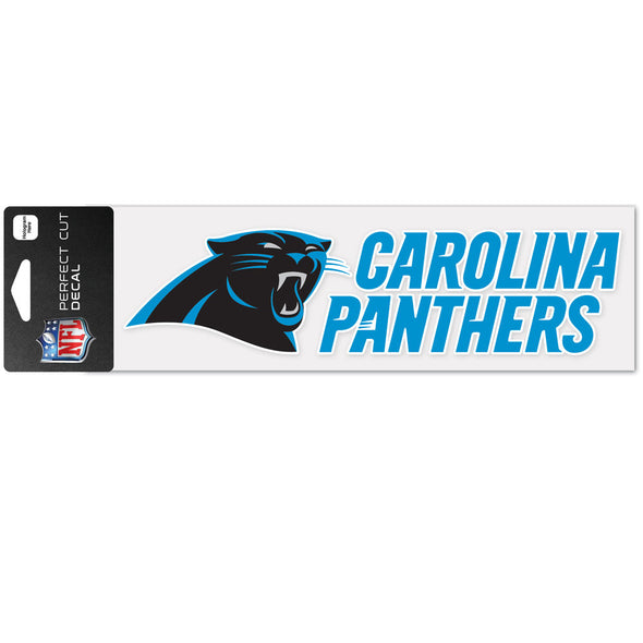 "Carolina Panthers WinCraft 3"" x 10"" Team Perfect Cut Decal"