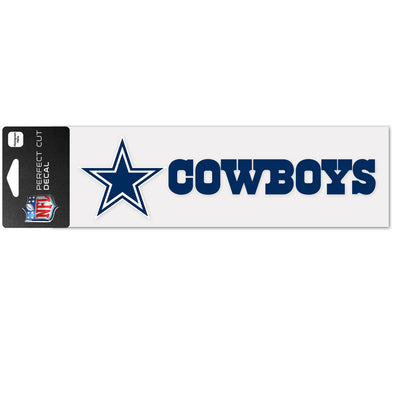 "Dallas Cowboys WinCraft 3"" x 10"" Team Perfect Cut Decal"