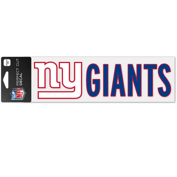 "New York Giants WinCraft 3"" x 10"" Team Perfect Cut Decal"