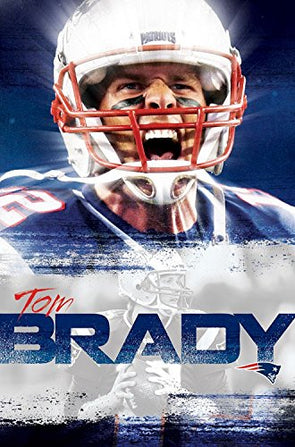 Tom Brady 'Superstar' New England Patriots NFL Action Wall Poster