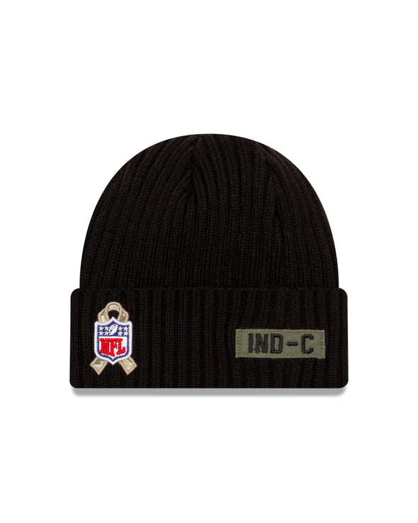 New Era NFL Indianapolis Colts Black 2020 Salute to Service Sideline Knit