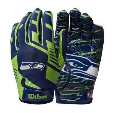 Youth NFL Stretch Fit Receivers Gloves - Seattle Seahawks