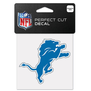 "Detroit Lions WinCraft 4"" x 4"" Logo Perfect Cut Decal"