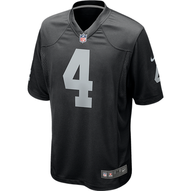 Men's Nike Las Vegas Raiders Black Derek Carr Game Jersey