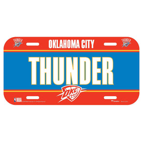 Oklahoma City Thunder Fanatics Branded License Plate Sign