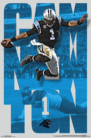 Cam Newton Carolina Panthers 22'' x 34'' Player Poster