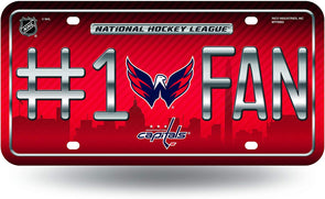 Rico NHL #1 Fan Metal Auto Tag Washington Capitals