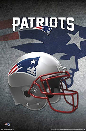 New England Patriots Helmet Football NFL Poster