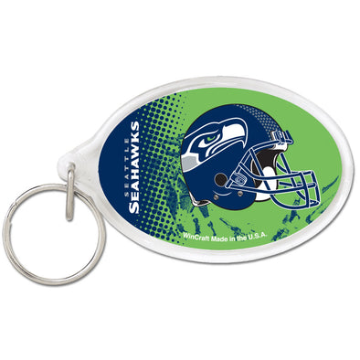 Acrylic Key Ring Oval Seattle Seahawks