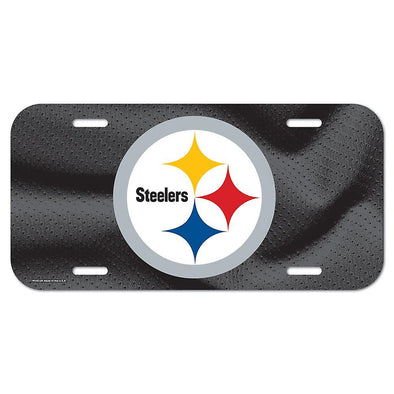 NFL Pittsburgh Steelers Checker Plate Effect Licence Plate