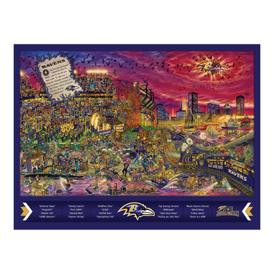 Joe Journeyman 18'' x 24'' 500-Piece Team Puzzle Baltimore Ravens