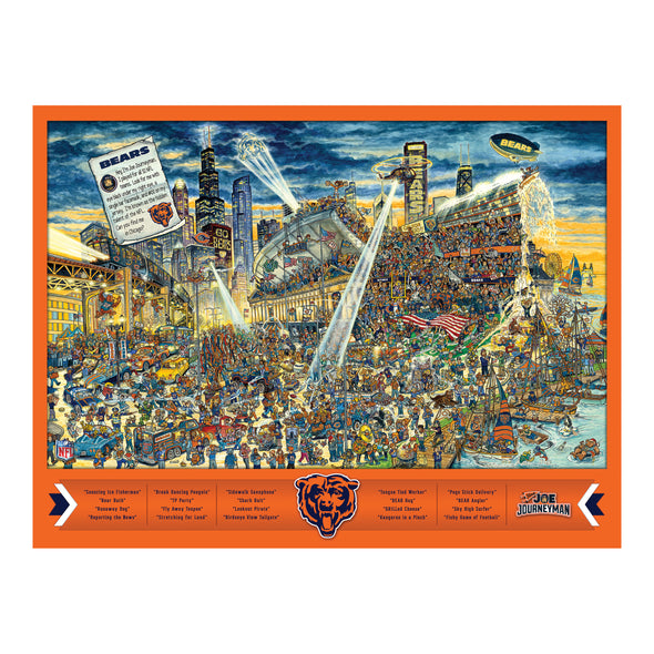 Joe Journeyman 18'' x 24'' 500-Piece Team Puzzle Chicago Bears