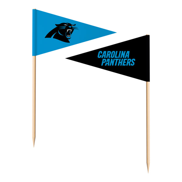 Sports Vault NFL Carolina Panthers Toothpick Flags 36 Pieces