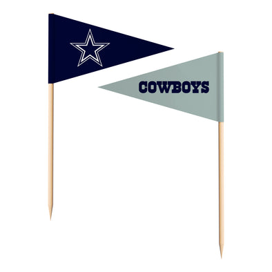 Sports Vault NFL Dallas Cowboys Toothpick Flags 36 Pieces