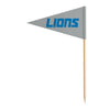Sports Vault NFL Detroit Lions Toothpick Flags 36 Pieces