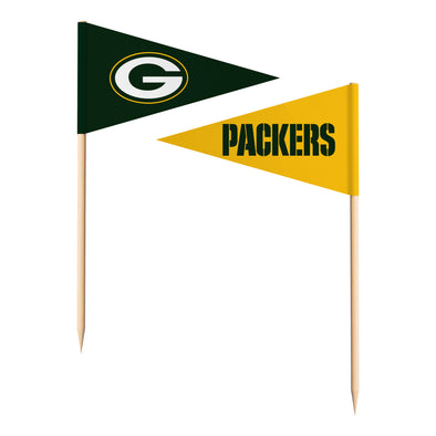 Sports Vault NFL Green Bay Packers Toothpick Flags 36 Pieces