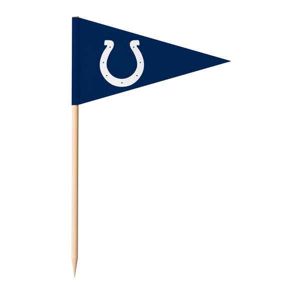Sports Vault NFL Indianapolis Colts Toothpick Flags 36 Pieces