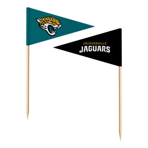 Sports Vault NFL Jacksonville Jaguars Toothpick Flags 36 Pieces