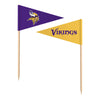 Sports Vault NFL Minnesota Vikings Toothpick Flags 36 Pieces