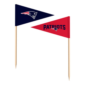 Sports Vault NFL New England Patriots Toothpick Flags 36 Pieces