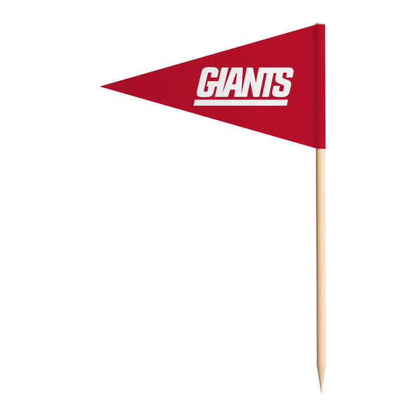 Sports Vault NFL New York Giants Toothpick Flags 36 Pieces