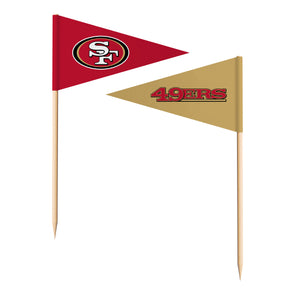 Sports Vault NFL San Francisco 49ers Toothpick Flags 36 Pieces
