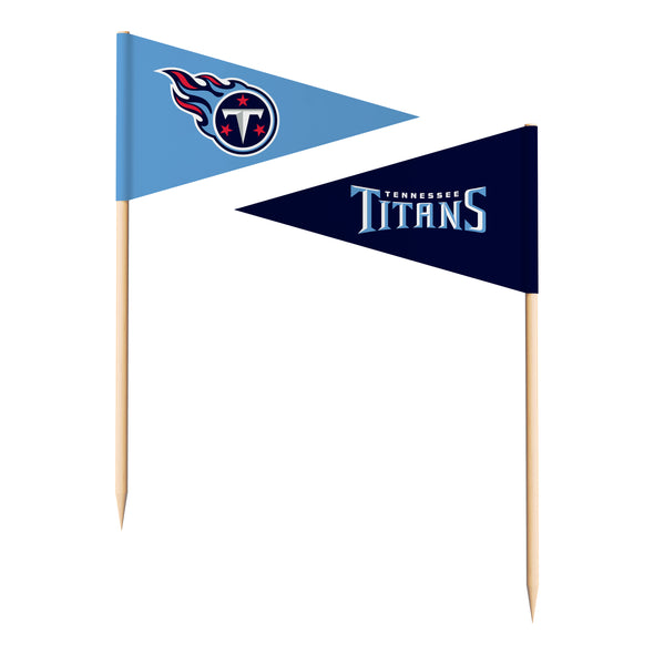 Sports Vault NFL Tennessee Titans Toothpick Flags 36 Pieces