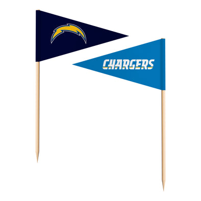 Sports Vault NFL Los Angeles Chargers Toothpick Flags 36 Pieces