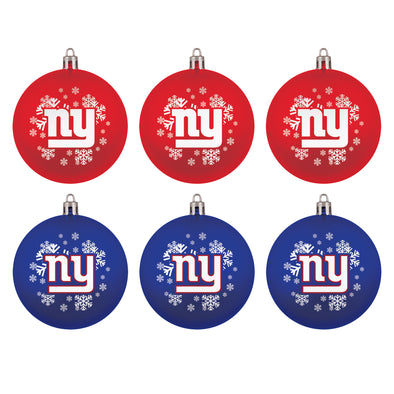 New York Giants NFL Christmas Ornament Gift Set (6-Piece)