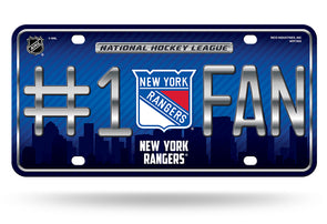 Rico NHL #1 Fan Metal Auto Tag New York Rangers