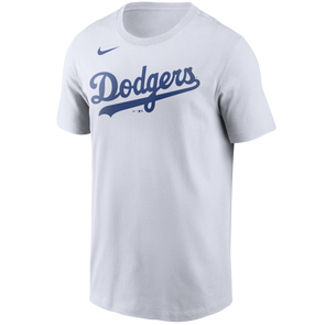 Men's Los Angeles Dodgers Nike White Wordmark Legend T-Shirt
