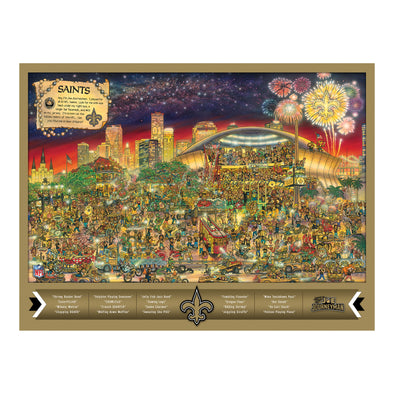 Joe Journeyman 18'' x 24'' 500-Piece Team Puzzle New Orleans Saints