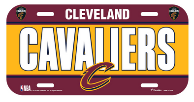 Cleveland Cavaliers Fanatics Branded License Plate Sign
