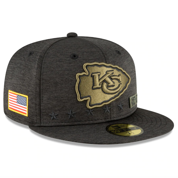 Kansas City Chiefs New Era 2020 Salute to Service 59FIFTY Fitted Hat
