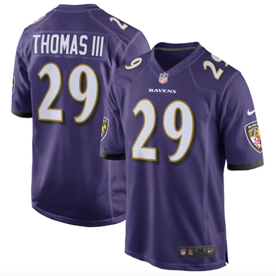 Men's Nike Earl Thomas Purple Baltimore Ravens Game Player Jersey