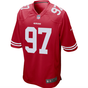 Men's San Francisco 49ers Nick Bosa Nike Red Game Jersey