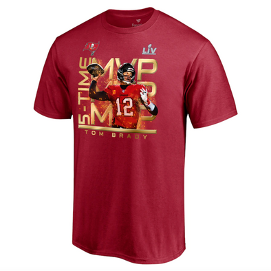 Tom Brady Tampa Bay Buccaneers Fanatics Branded Super Bowl LV Champions MVP T-Shirt